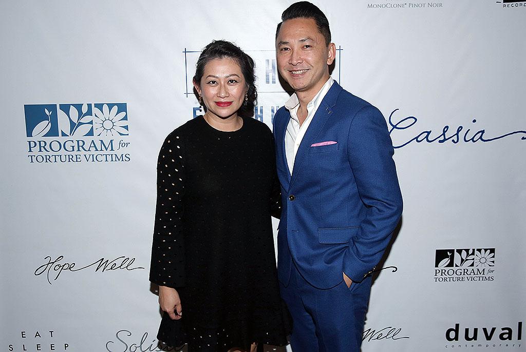 Co-owner Kim Luu Ng and Dr. Viet Thanh Nguyen